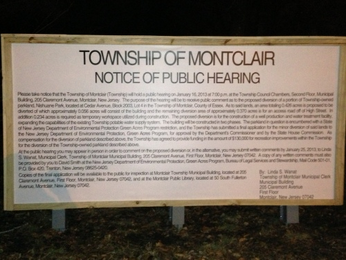 Really Montclair? Is this how you notify residents that a public meeting is being held?
