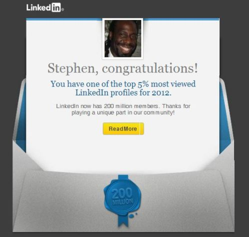 LinkedIn Congratulations to Stephen Chukumba