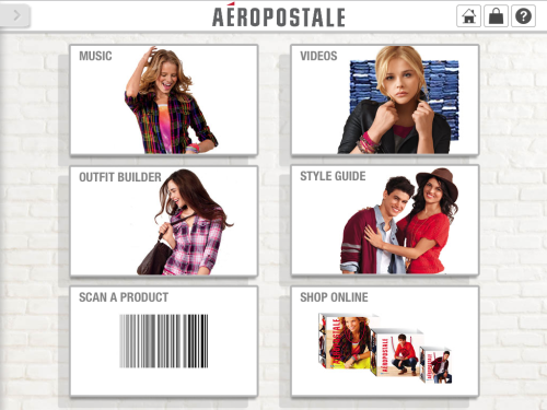 Aero iPad Home page