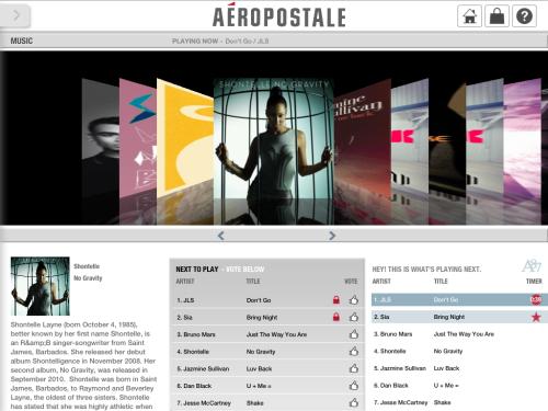Aero iPad Music page