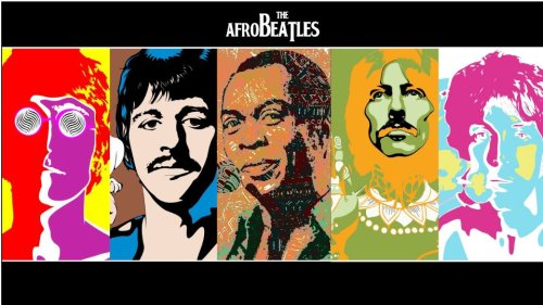 The AfroBeatles. John, Ringo, Fela, George and Paul.