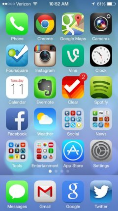 iOS 7 screenshot courtesy of BusinessInsider.com