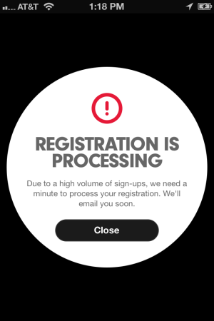 Beats Music Registration is Processing