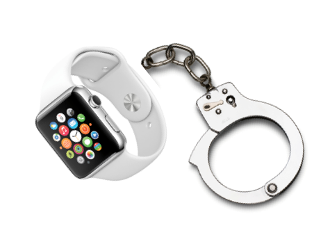Apple Watch handcuffs