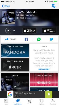 Pandora, iTunes, Rhapsody Ad
